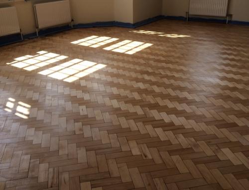 Hollins Park Hospital, Reclaimed Wood Block Flooring